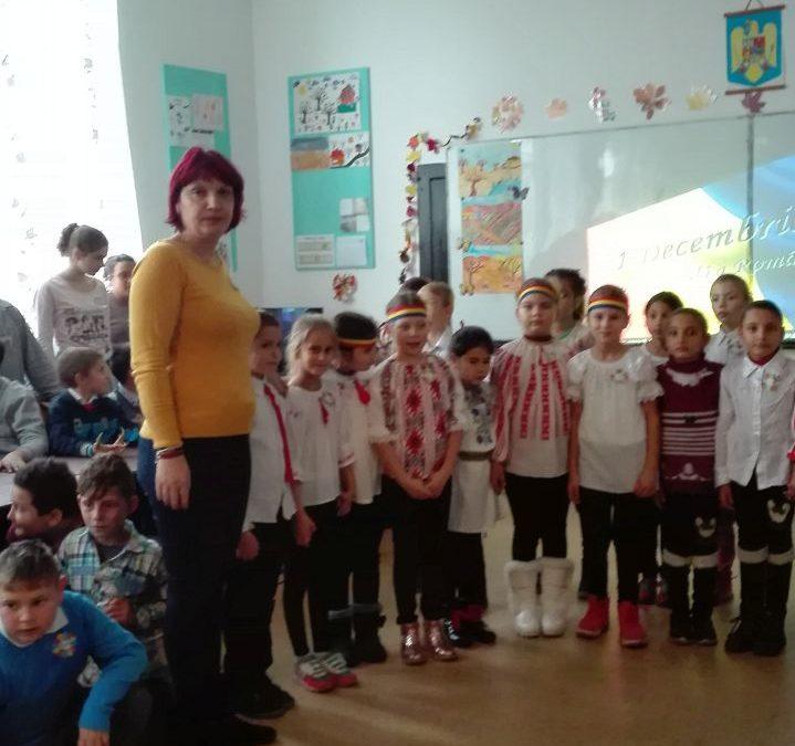 La mulți ani, Draga Românie!, din inimile copiilor școlii gimnaziale din Dorobanțu